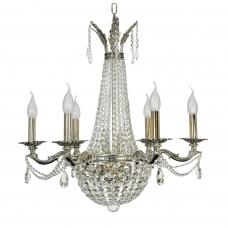 Подвесная хрустальная люстра свечи Arti Lampadari Amelia E 1.6.6.502 SB