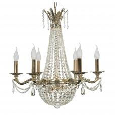 Подвесная хрустальная люстра свечи Arti Lampadari Amelia E 1.6.6.502 GB