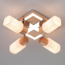 Потолочный светильник Eurosvet Savier 20029/4 светлое дерево;хром