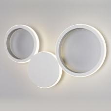 Светодиодное бра Eurosvet Rings 40141/1 LED серебро