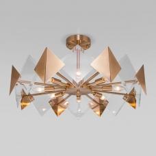 Потолочная люстра Eurosvet Origami 60121/8 латунь