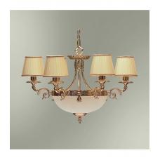 Классическая люстра данного типа обычно используют для освещения комнаты площадью  до 20 кв.м Светильник подвешивается на цепи и крепится на крюк в  потолке. В стандартной комплектации общая высота светильника 70 см, по  желанию заказчика длина це..