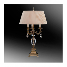 Настольная лампа с абажуром 44-08.56/13123БХ