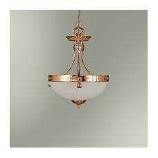 Светильник подвесной классика 18250/2П золото и стекло