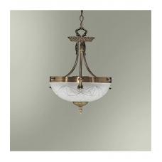 Светильник подвесной классический 18255/2П (РС) стекло бронза