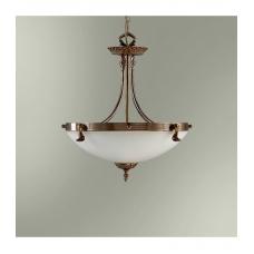 Светильник подвесной классический 18255/3П бронза стекло