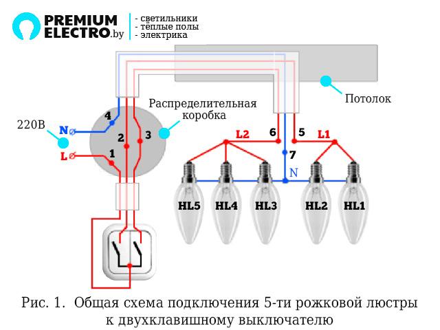 Люстры классика схема подключения фото